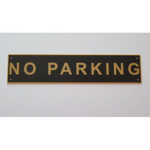 (Black/Gold Text) NO PARKING