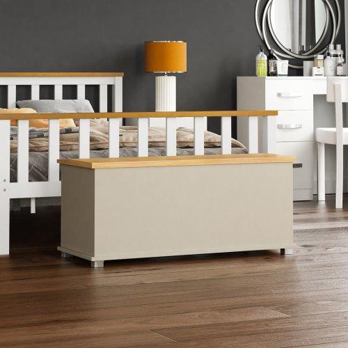 (Grey) Arlington Wooden Toy Box | Blanket Box