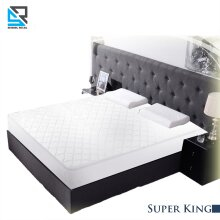 Super King Quilted Mattress Protector Bed Sheet Cover 180 x 200 Cm
