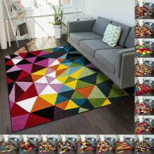 Thick Large Rugs Carpet Mat Rug Non Slip & Washable Modern Bedroom Carpet Rug