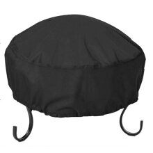 34X16 Inch Waterproof, 210D Oxford Cloth, Heavy Duty Round Firepit Cover