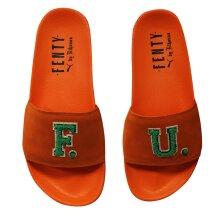 Puma Fenty Rihanna Suede Leadcat FU Slides Flip Flops Sandal 367087 03 B35B