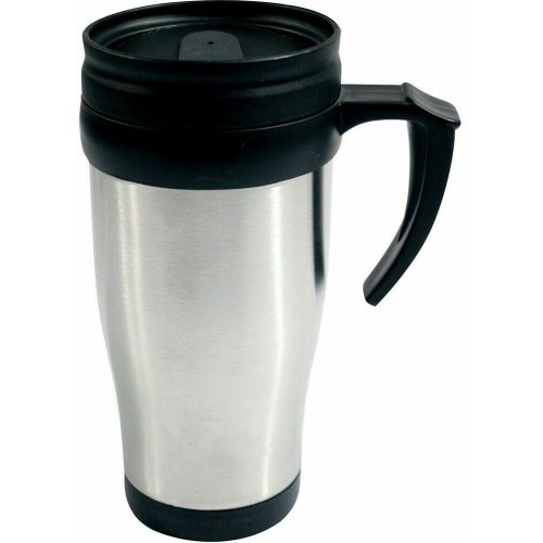 14oz TRAVEL MUG INSULATED TEA COFFEE THERMAL THERMOS FLASK CUP HOT COLD DRINK