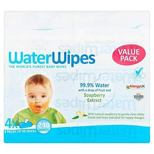Waterwipes Baby Wipes Gentle All Over Cleansing Wipe, Pack of 4