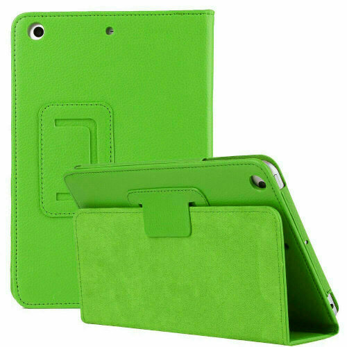 """(Green) Leather Wallet Flip Case Cover For Apple iPad 10.2"""" 2020 8th Gen"""