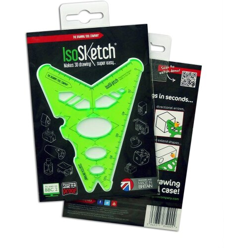The Drawing Tool Company IsoSketch2 Drawing/Drafting Tool, Green