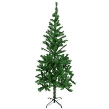 6ft Artificial Green Xmas Christmas Tree Pine Festive Decoration Metal Stand