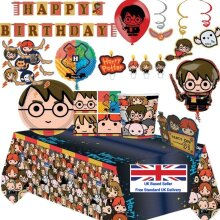 Harry Potter Birthday Party Tableware (Cups, Plates) Decorations, Bags & Balloons Pop Art Ship from UK