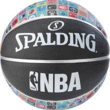 Spalding NBA Team Collection Rubber Outdoor Court Basketball Black