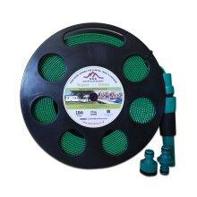 10m Green Flat Hose on Reel (Non Toxic)