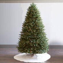 6ft/7ft Pre-Lit Victorian Pine Multi-Function Christmas Tree 800 Tips/1000 Tips with 200/250 Warm White Candle LED Lights Green