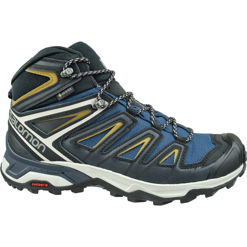 (7) Salomon X Ultra 3 Mid GTX 408141 Mens Navy Blue running shoes