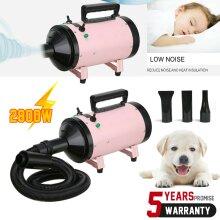 Pet Dryer 2800W Dog Cat Hair Grooming Hairdryer Blaster Heater Lowest Noise - UK