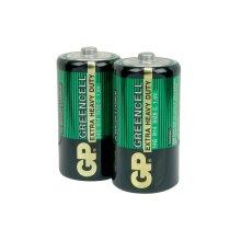 GP Greencell Heavy Duty Zinc Chloride Low Drain C LR14 Battery [2 Pack]