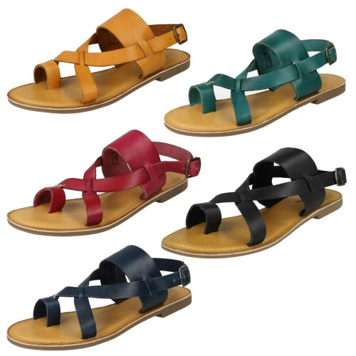 Ladies Leather Collection Toe Loop Sandals