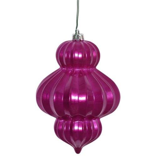 Vickerman N151810DCV Magenta Candy UV Drilled Lantern Ornament - 6 in. - 3 Per Bag