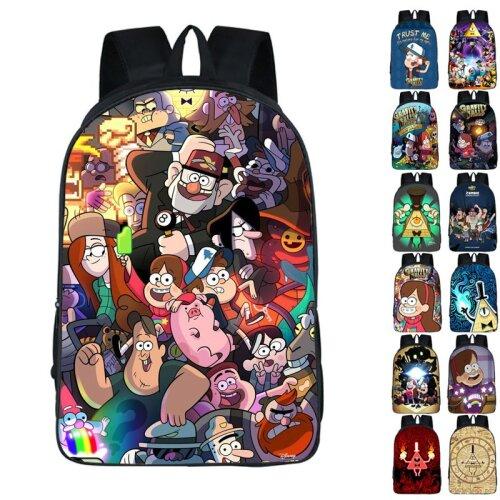 Cartoon Gravity Falls Backpack School Bag Rucksack