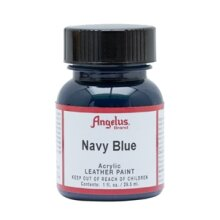 Angelus Acrylic Leather Paint 1 fl oz/30ml Bottle. Navy Blue 042