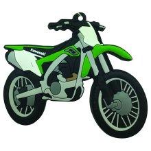 Kawasaki KX 450 F rubber key ring motor bike cycle gift keyring chain