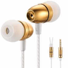 Betron ELR50 Earphones Headphones, Balanced Bass Driven Sound, Noise Isolating, Stereo for iPhone, iPod, iPad, Samsung and Mp3 players (GOLD...