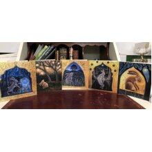 The Hares Dream card pack of 5 cards by hannah willow