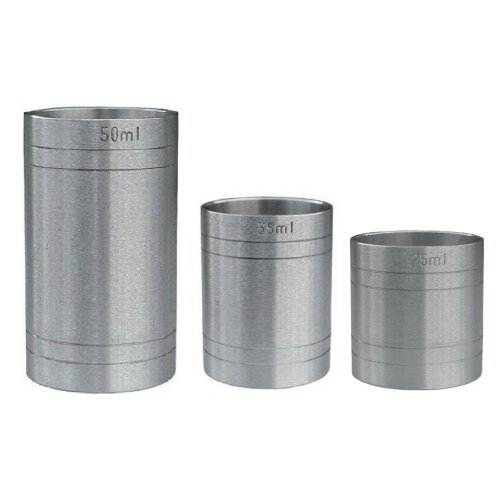 (3 Piece Set) Stainless Steel Thimble Bar Measures Set CE Marked