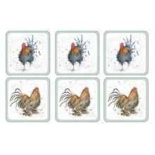 Wrendale Cockerel Coasters - Set of 6