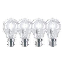 Pack of 4-70W Sylvania Energy Saving EcoClassic Halogen GLS BC/B22 Bayonet Cap Traditional Bulb.