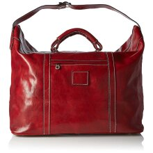 68x36x22 cm - Duffel Leather Bag - Made in Italy