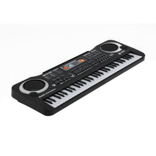 Children's 61 Key Electronic LED Musical Keyboard & Microphone