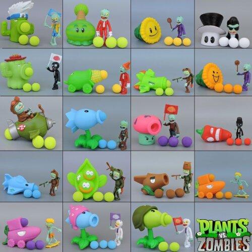 Plants vs Zombies Peashooter PVC Action Model Toy