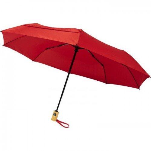 (One Size, Red) Avenue Bo Foldable Auto Open Umbrella