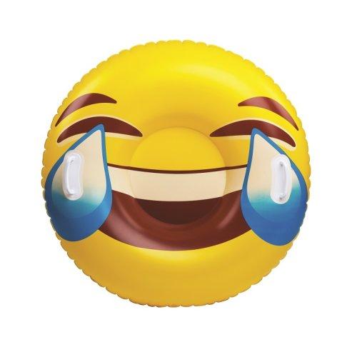 Waterslide Bob sleigh Smilie Emoji slide inflatable 100cm Size