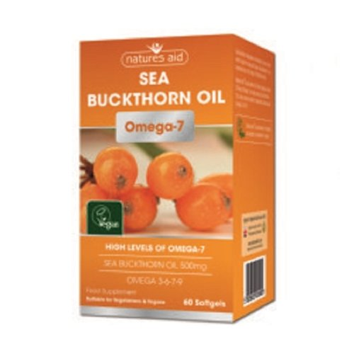 Natures Aid Sea Buckthorn Oil Omega-7 60 Softgels