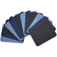 Nortexx - Premium Quality Denim Iron-on Jean Patches Inside & Outside Strongest Glue 100% Cotton Assorted