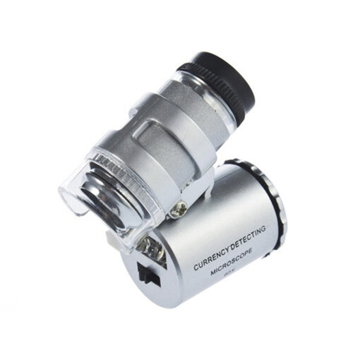 TRIXES Mini 60X Jewellery Loupe Lighted Magnifier Microscope