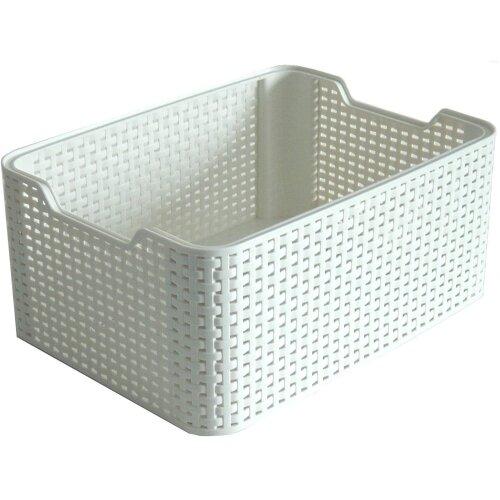 Curver Style 18 Litre Medium Storage Basket Rectangular Vintage White