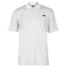 Slazenger Mens Check Golf Polo Collared Neckline Blouse Sports Shirt Top