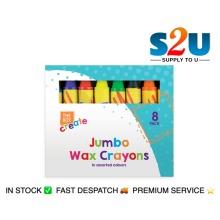 Kids JUMBO WAX CRAYONS Safe Non Toxic Toddler First Crayons Easy Grip Art Craft