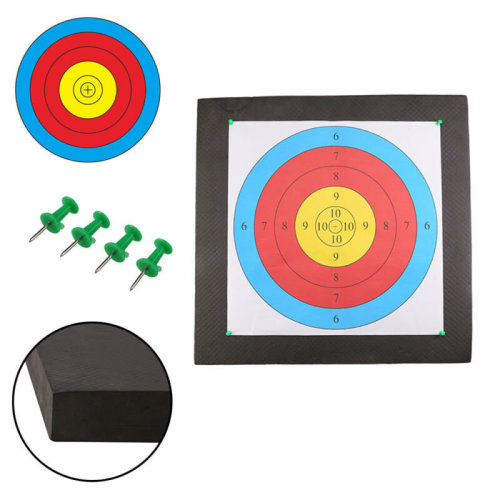 2 Faces 4 Pins Lightweight High Density EVA Foam Archery Target Mat