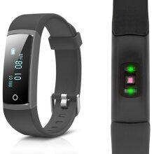 Aquarius AQ126 Fitness tracker with blood pressure-Colour Screen-Black