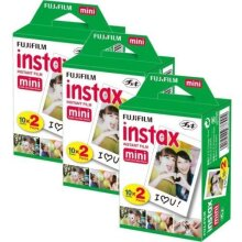 Fujifilm Instax Mini Film Bundle Pack (60 shots) Mini for Instax 8 50s 25 7s 90 300