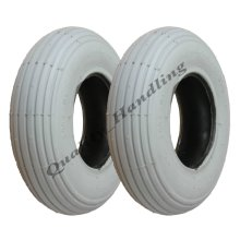 Grey Mobility Scooter tyre 200x50 non marking wheelchair - set of 2.