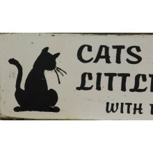 Cats Are Just Little People Plaque