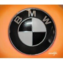 Modifix - BMW Black & White Badge Emblem Logo Replacement Front Rear 82mm for BMW 1 2 3 4 5 6 7 Series M Sport