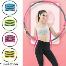 Collapsible Eight-Section Foam Hula Hoop Fitness Exercise