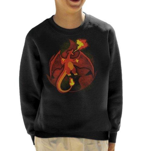 Pokemon Fire Charizard Kid's Sweatshirt