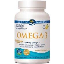 Nordic Naturals Omega-3, 690mg Fish Gelatin + EPA & DHA, Immune & Heart Support