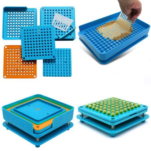 6PCS 100 Holes Capsule Filler Capsule Filling Machine Flate Tool Sets Food Grade