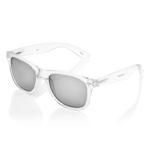 (Clear/Silver) Adults Clear Frame Sunglasses Transparent Sunglasses Retro UV400 Mens Womens